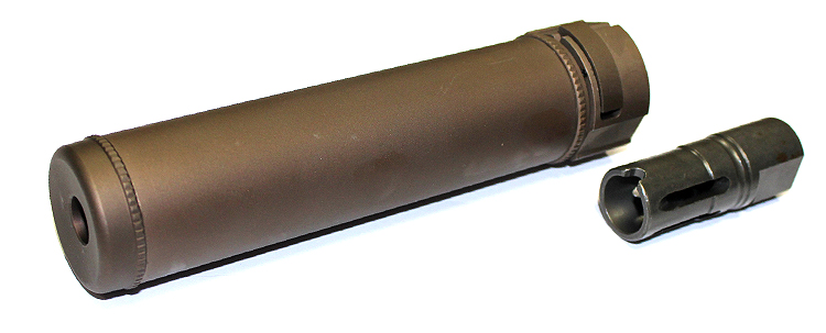 SF 7.5inch Quick Detach Silencer Bronze inc flashhider CCW